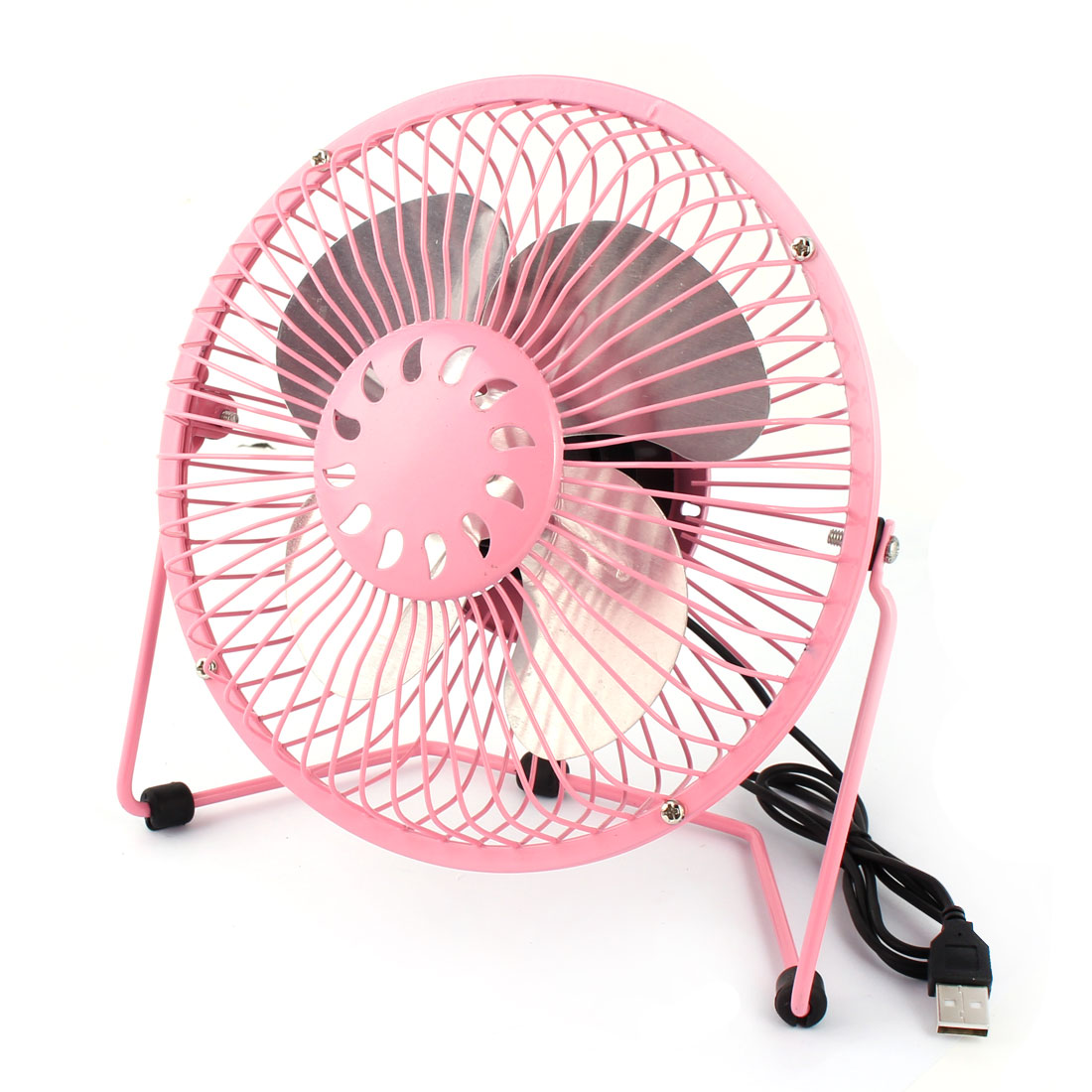 Computer Notebook Laptop Metal Portable USB Mini Cooler Cooling Fan Pink