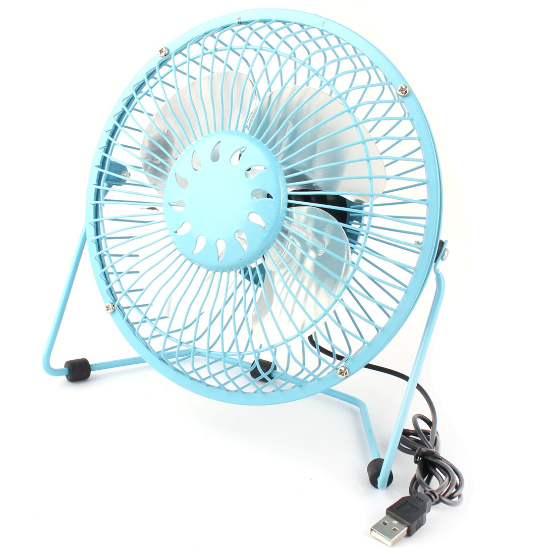 Computer Notebook Laptop Metal Portable USB Mini Cooler Cooling Fan Blue