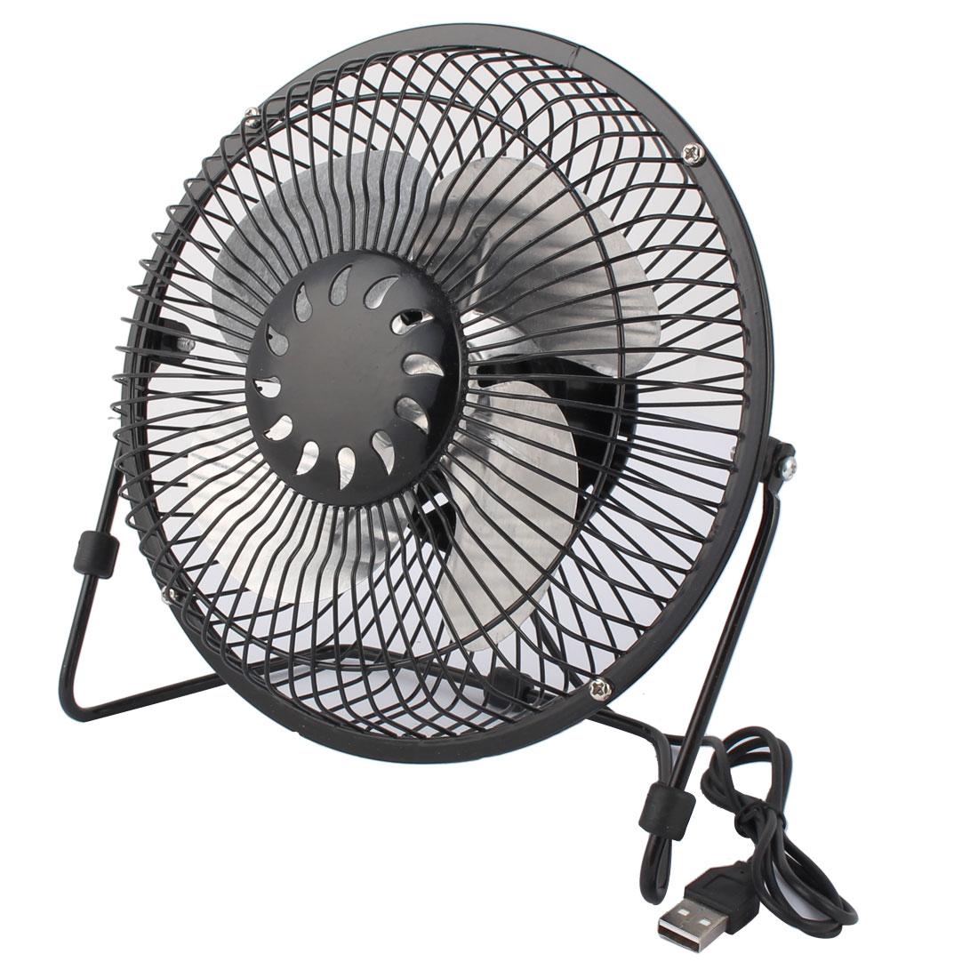 Computer Notebook Laptop Metal Portable USB Mini Cooler Cooling Fan Black