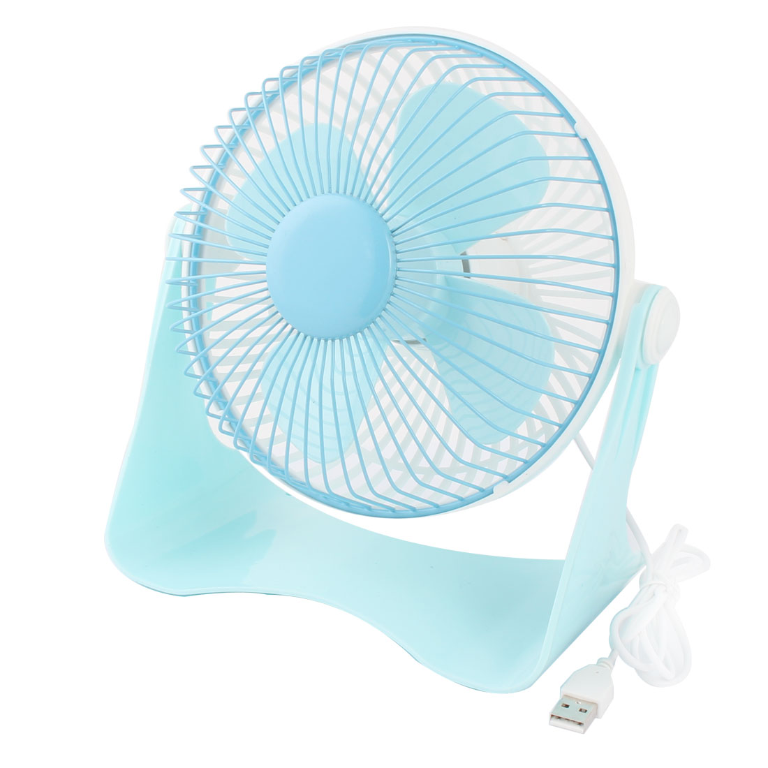 Computer Notebook Laptop U Shaped Portable USB Mini Cooler Cooling Fan Blue White