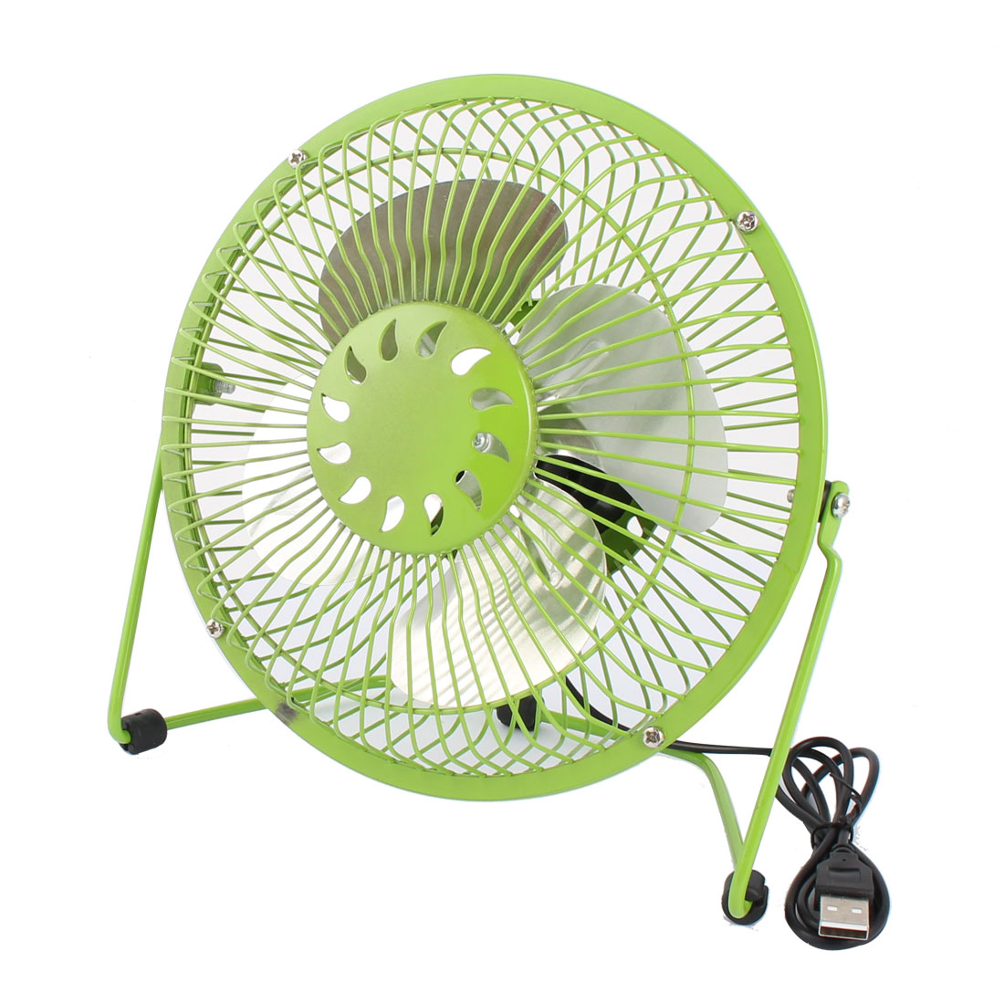 Computer Notebook Laptop Metal Portable USB Mini Cooler Cooling Fan Green