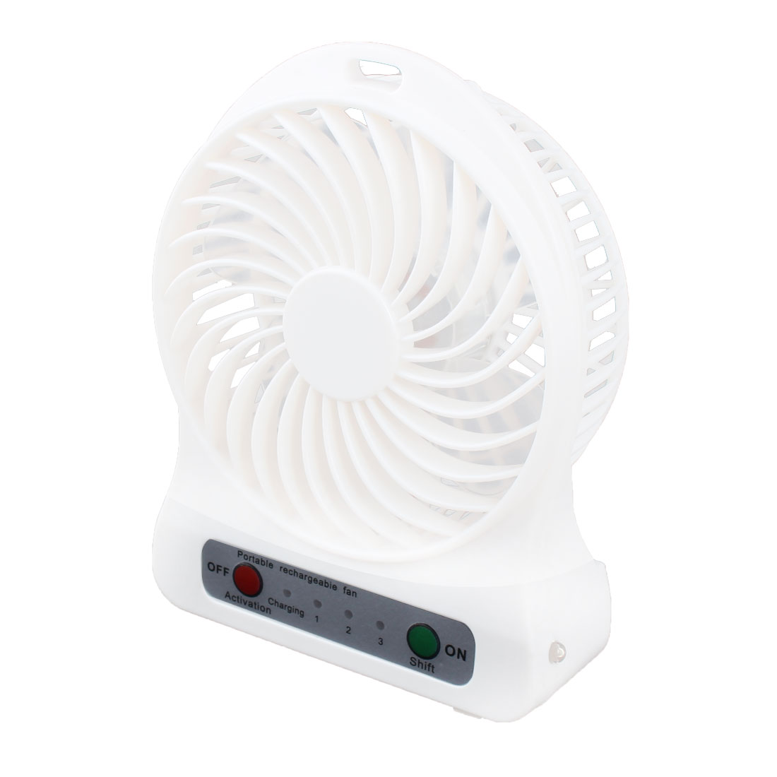 Computer Notebook Laptop USB Battery Powered Portable Mini Cooler Fan White