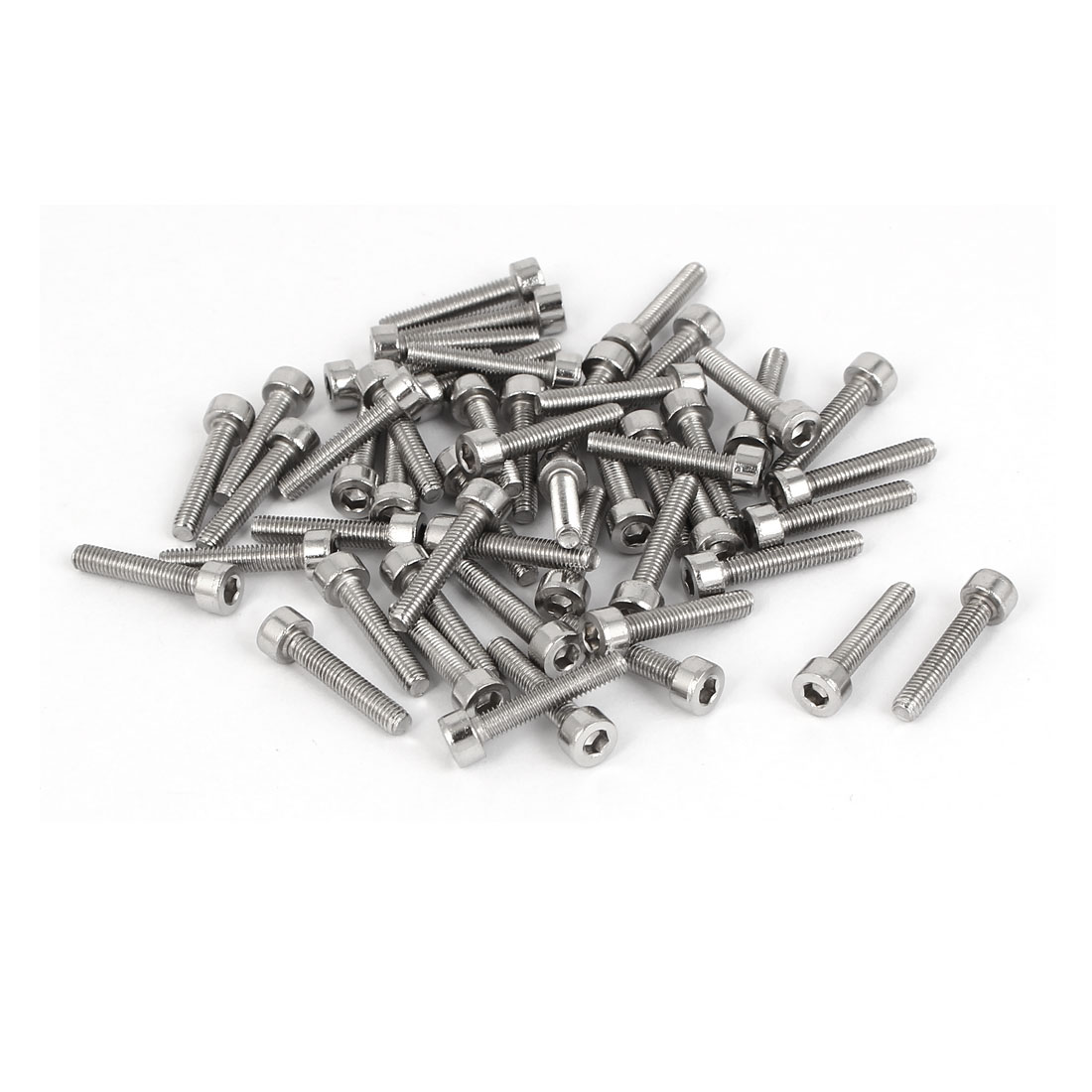 M3 x 16mm 24mm Length Stainless Steel Hex Socket Head Cap Screw Bolt 50pcs