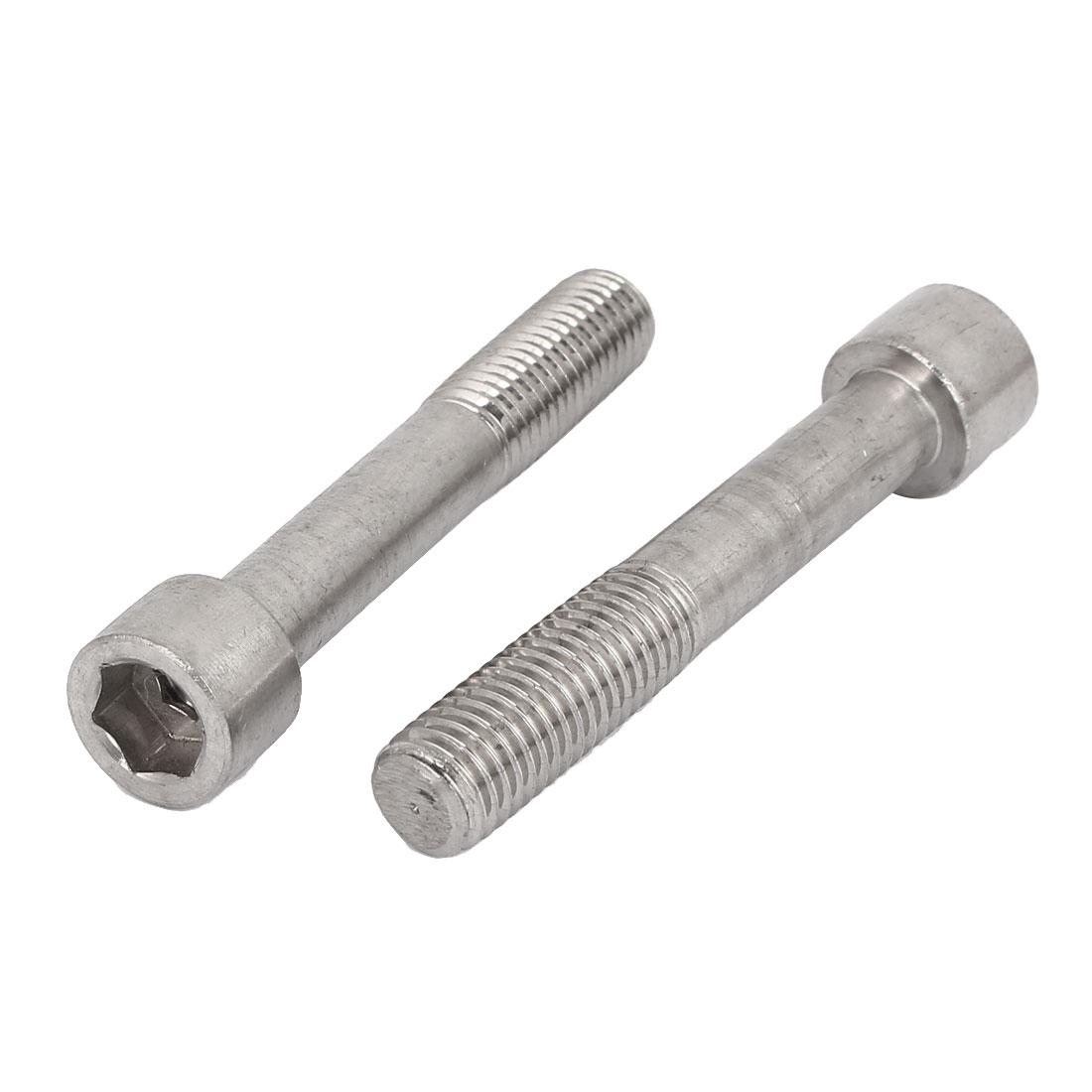 Stainless Steel Hex Socket Head Cap Screw Bolt Silver Tone M14x85mm 2pcs