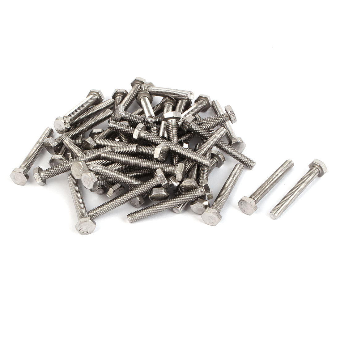 M4 x 30mm External Hex Drive Fasteners Fixing Hexagon Head Screws Bolts 50PCS