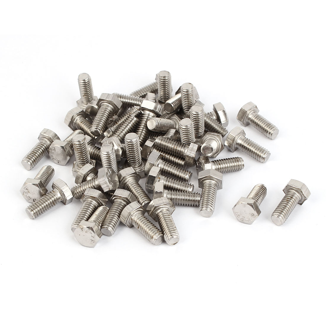 M5 x 12mm x 0.8mm Fully Thread External Hex Drive Hexagon Screws Bolts 50PCS