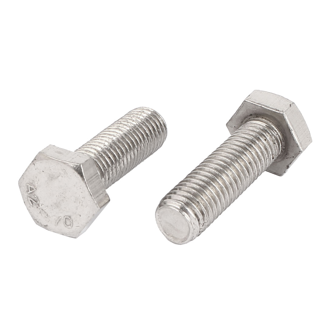 M14 x 45mm Stainless Steel Fully Thread Fasteners Hex Hexagon Screws Bolts 2PCS