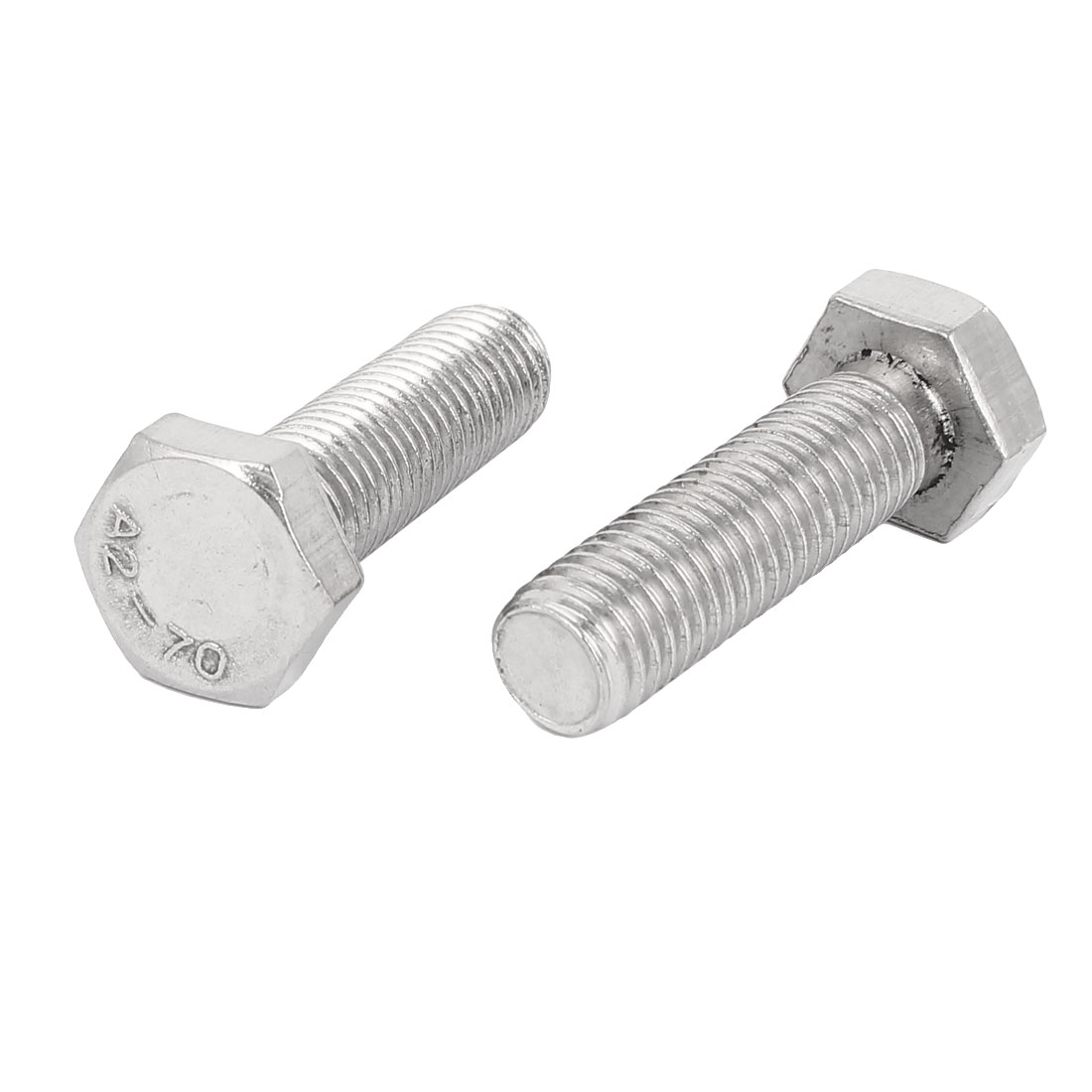 M14 x 47mm Stainless Steel Fasteners Fully Thread Hex Hexagon Bolts Screws 2PCS