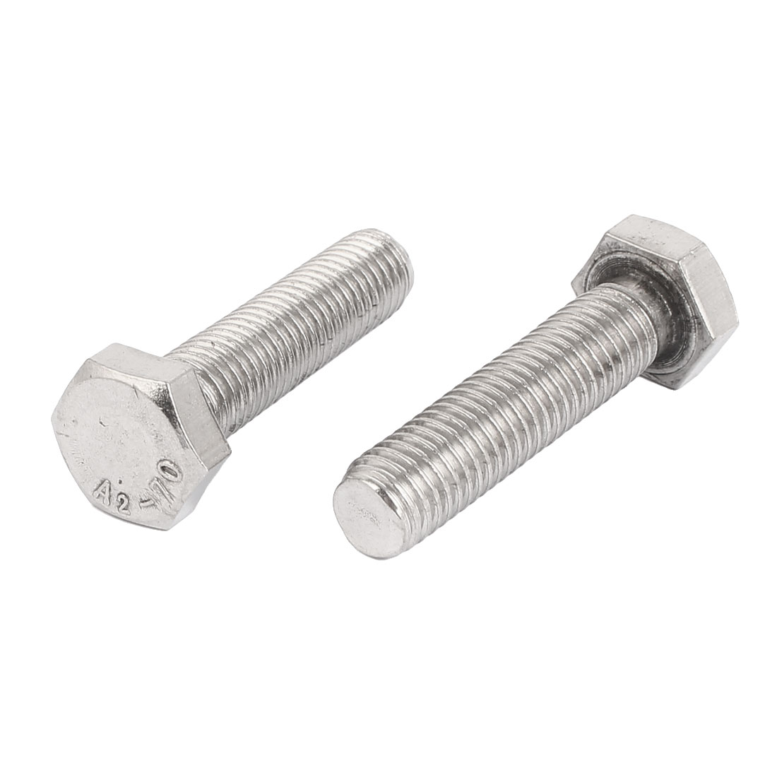 M14 x 57mm External Hex Drive Fully Thread Fixing Hexagon Screws Bolts 2PCS