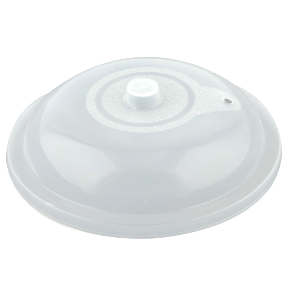 Household Plastic Food Storage Plate Bowl Pan Lid Cover Container Holder Clear White