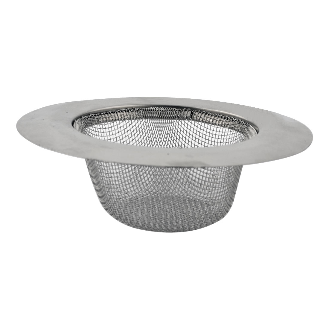 Home Kitchen Stainless Steel Food Stopper Water Sink Basin Strainer Silver Tone