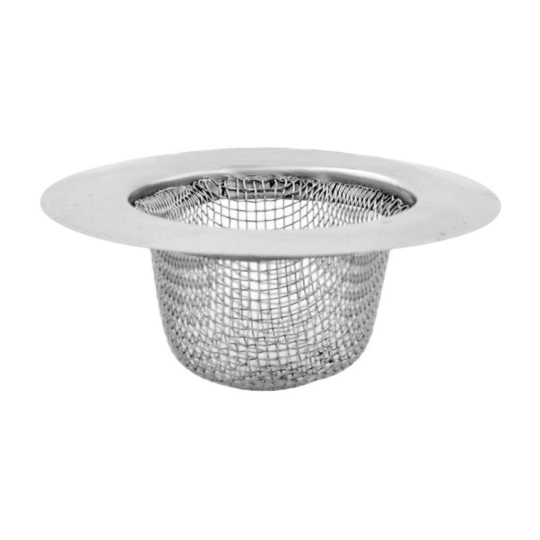Household Kitchen Stainless Steel Food Stopper Water Sink Basin Strainer Silver Tone