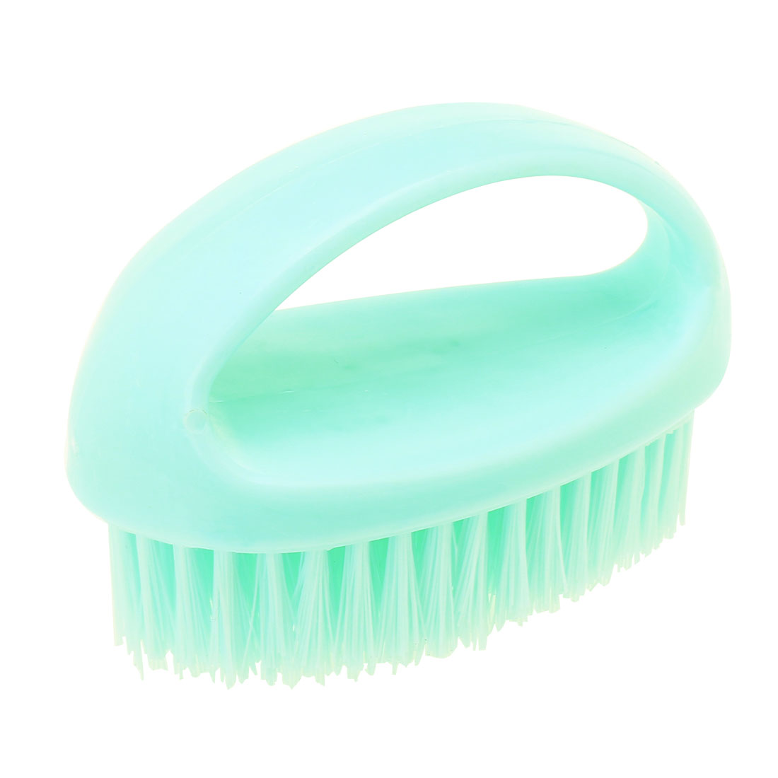 Household Plastic Handle Clothes Shoes Scrubbing Brush Cleaning Tool Light Blue
