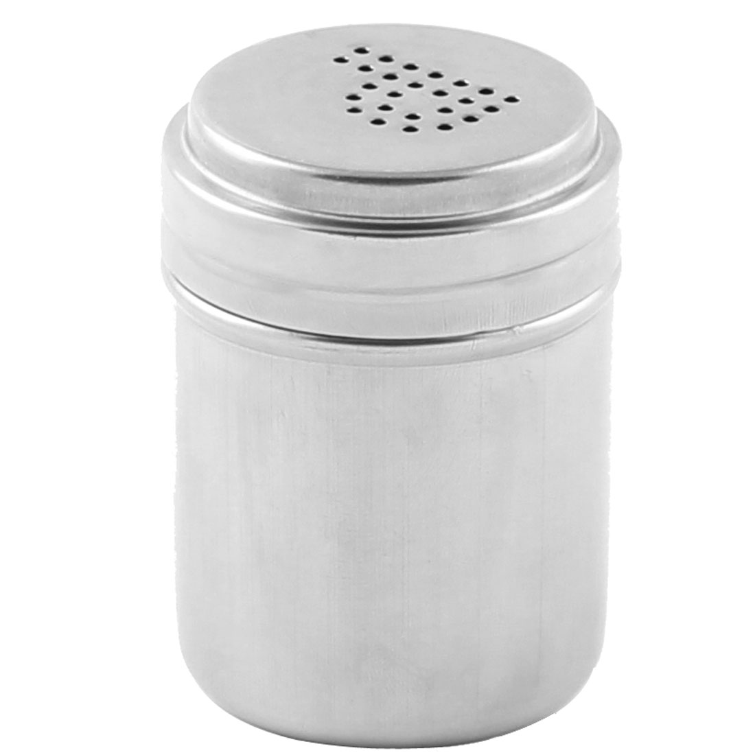 Home Kitchen Stainless Steel Irrotional Lid Cruet Bottle Chili Powder Holder Silver Tone