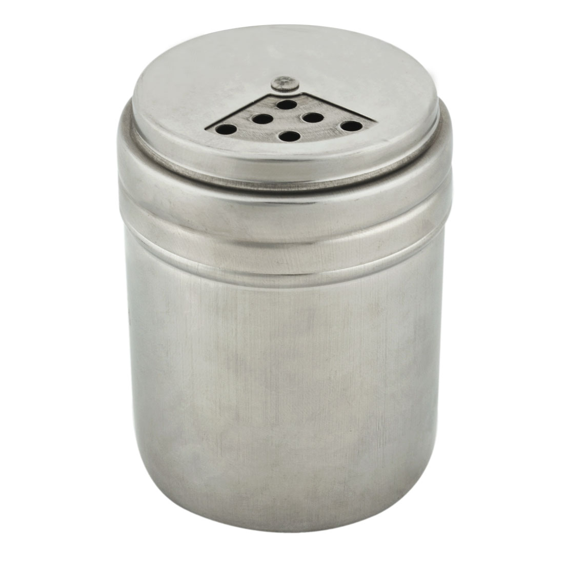 Home Kitchen Stainless Steel Rotatable Lid Cruet Bottle Chili Powder Holder Silver Tone