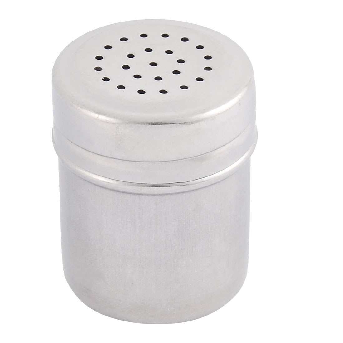 Household Kitchen Stainless Steel Irrotional Lid Cruet Bottle Chili Powder Holder Silver Tone