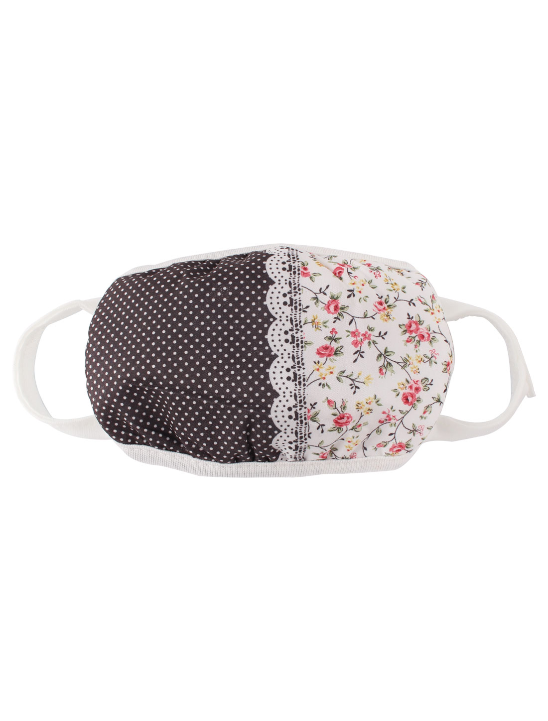 Lady Flower Pattern Anti Dust Face Mouth Mask Cover Respirator Protector Black