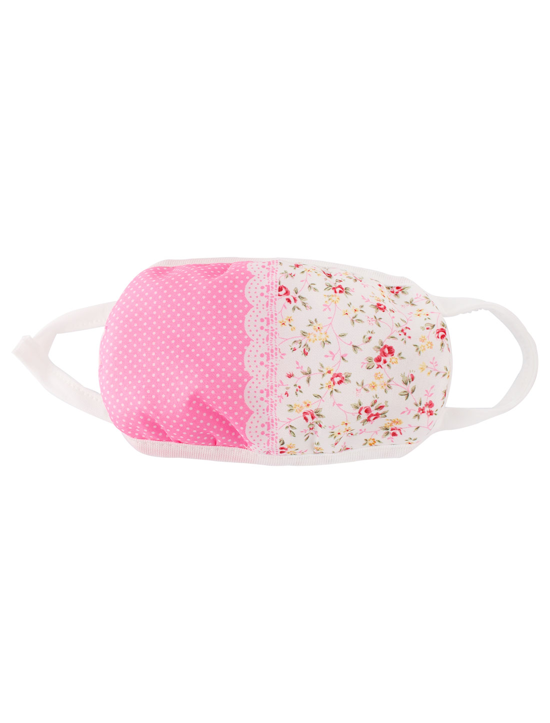 Woman Flower Pattern Face Mouth Mask Cover Earloop Respirator Protector Pink