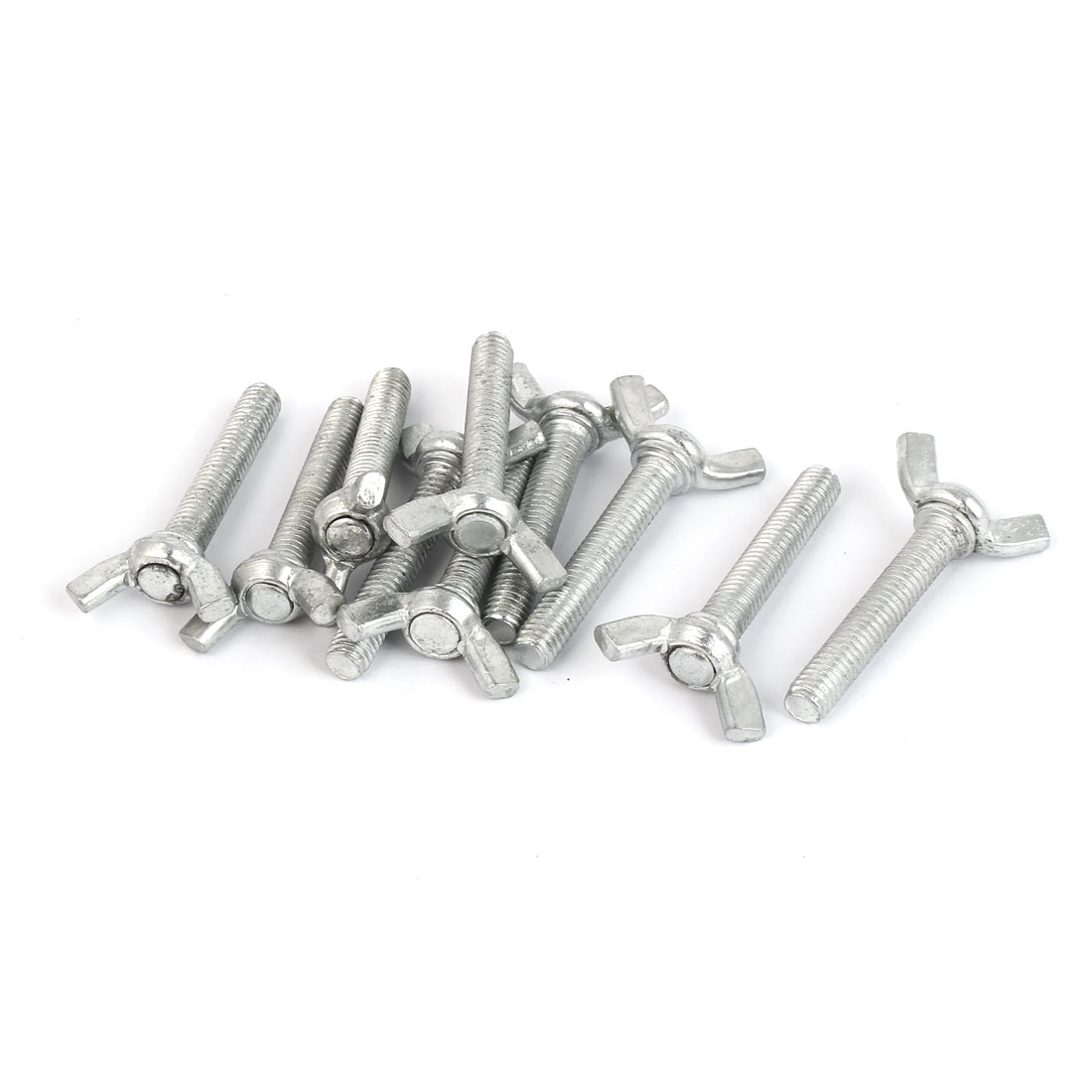 Metal Wing Bolt Butterfly Screw Fastener Metric M6 x 35mm 10pcs