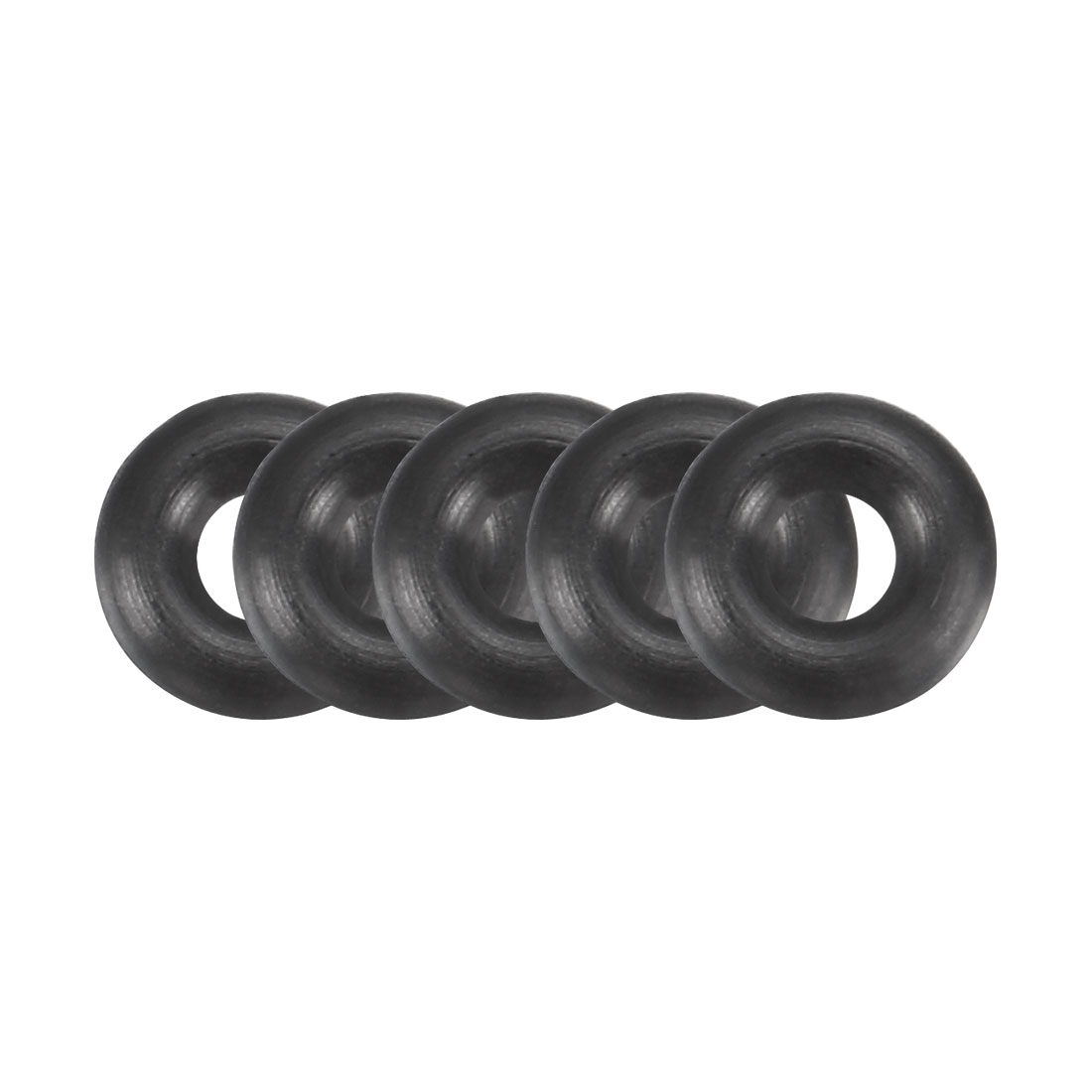 100 Pcs 6 x 2 x 2mm OD*ID*Height O Type Sealing Ring Black Rubber