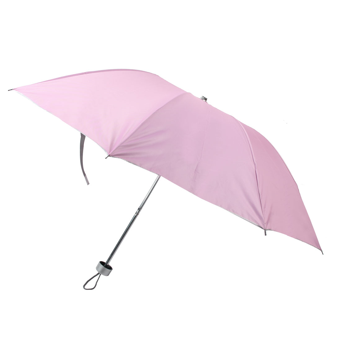 Outdoor Travel Camping Hiking Portable Folded Rain Sun Umbrella Pink 96cm Dia