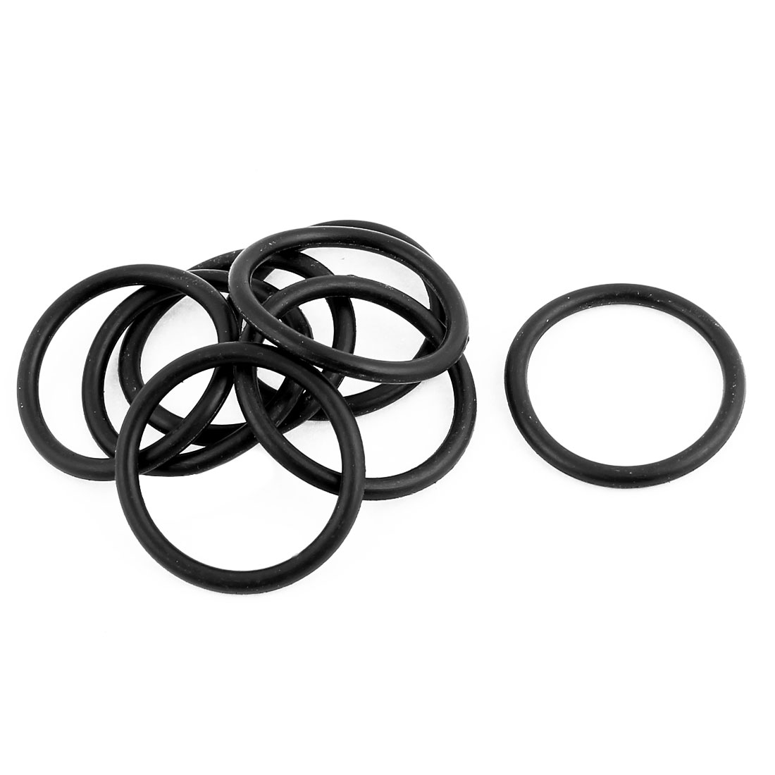 10 Pcs 33mm OD 3mm Thickness O Type Sealing Ring Black Rubber