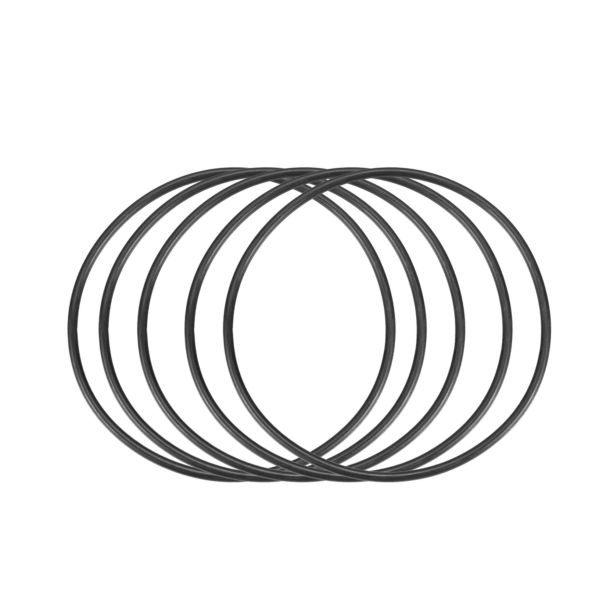 5 Pcs 66mm Diameter x 2mm Height O Type Sealing Ring Black Rubber