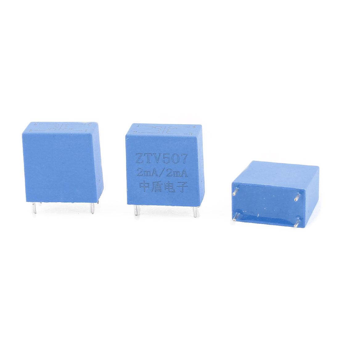 ZTV507 2mA/2mA 4 Terminal Precision AC Micro Current Transformer Sensor 3Pcs