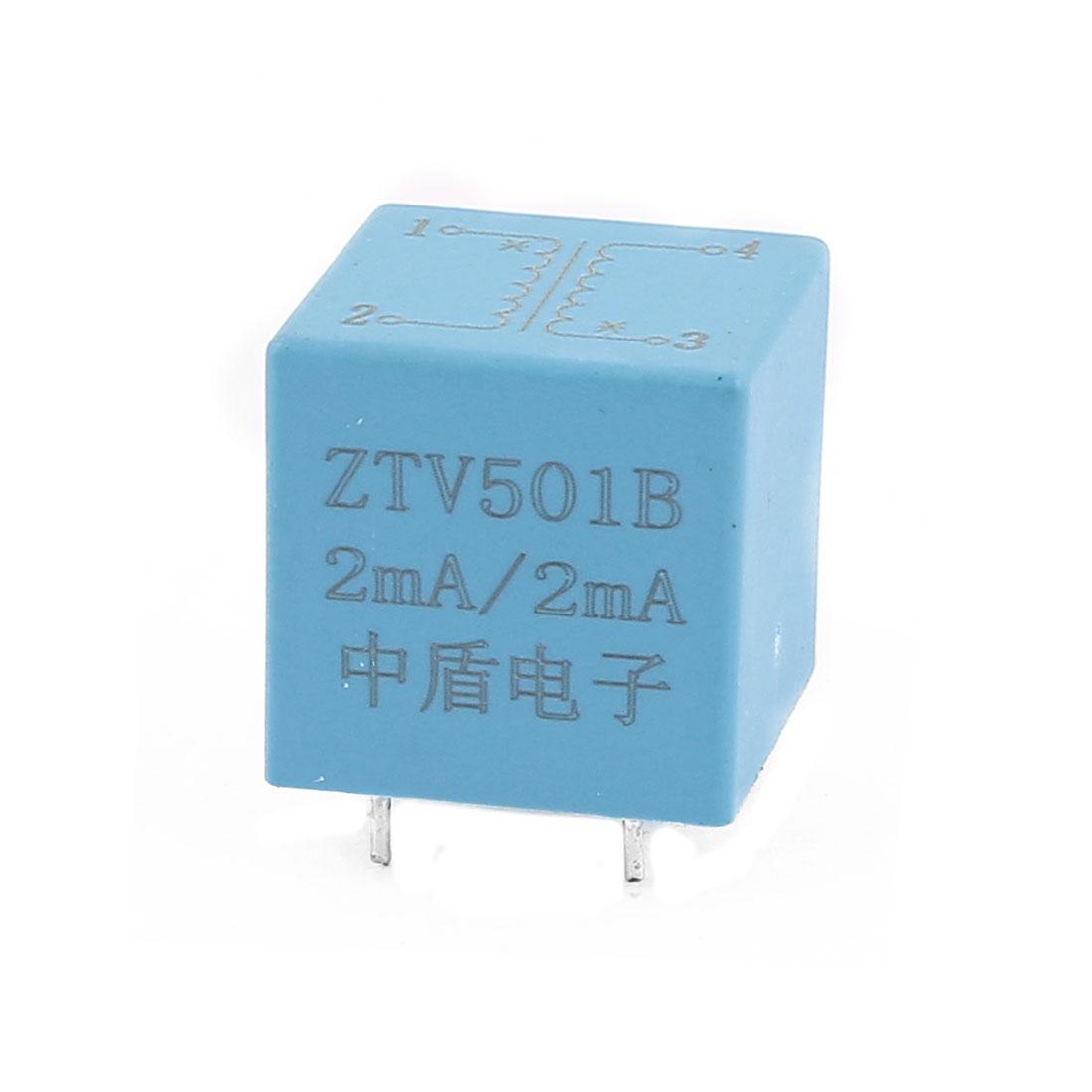 ZTV501B 2mA/2mA 4 Terminal Precision AC Micro Current Transformer Sensor