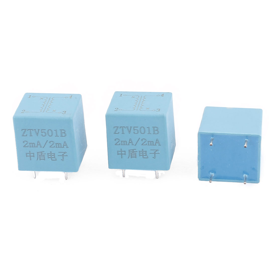ZTV501B 2mA/2mA 4 Terminal Precision AC Micro Current Transformer Sensor 3Pcs
