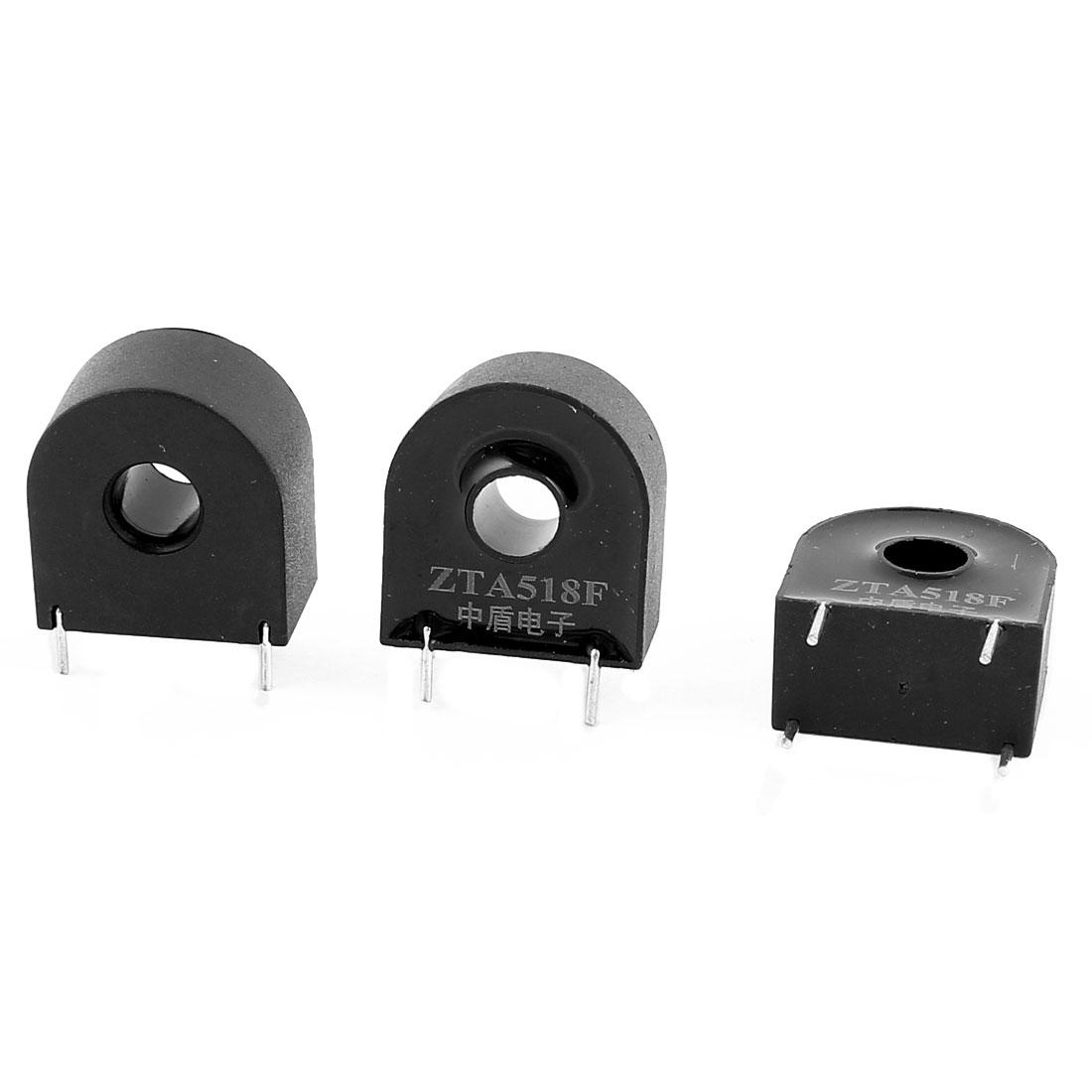 ZTA518F 20A/20mA 4 Terminal Precision AC Micro Current Transformer Sensor 3Pcs