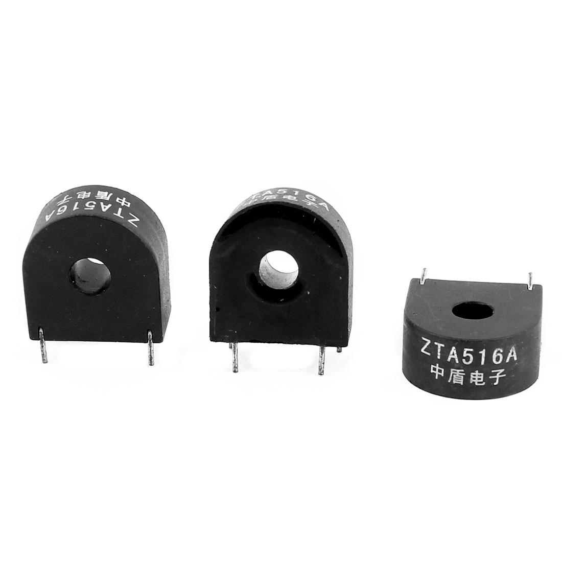ZTA516A 5A/2mA 4 Terminal Precision AC Micro Current Transformer Sensor 3Pcs