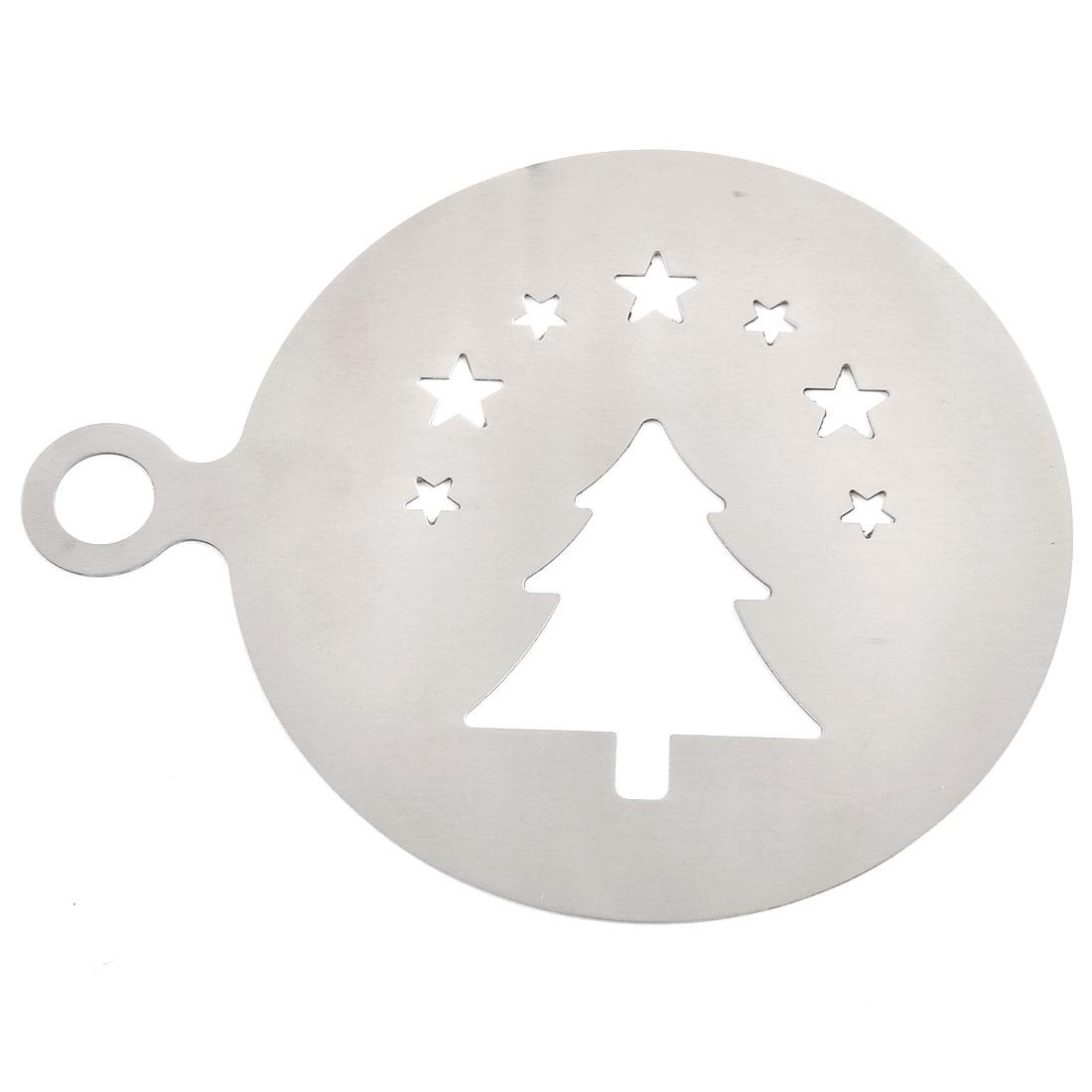 Home Kitchen Christmas Tree Design Baking Stencil Coffee Decorating Tool Mold