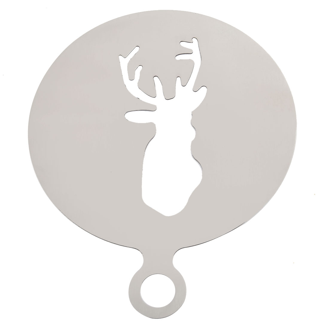 Home Kitchen Christmas Elk Design Baking Stencil Cake Coffee Decorating Tool Mold