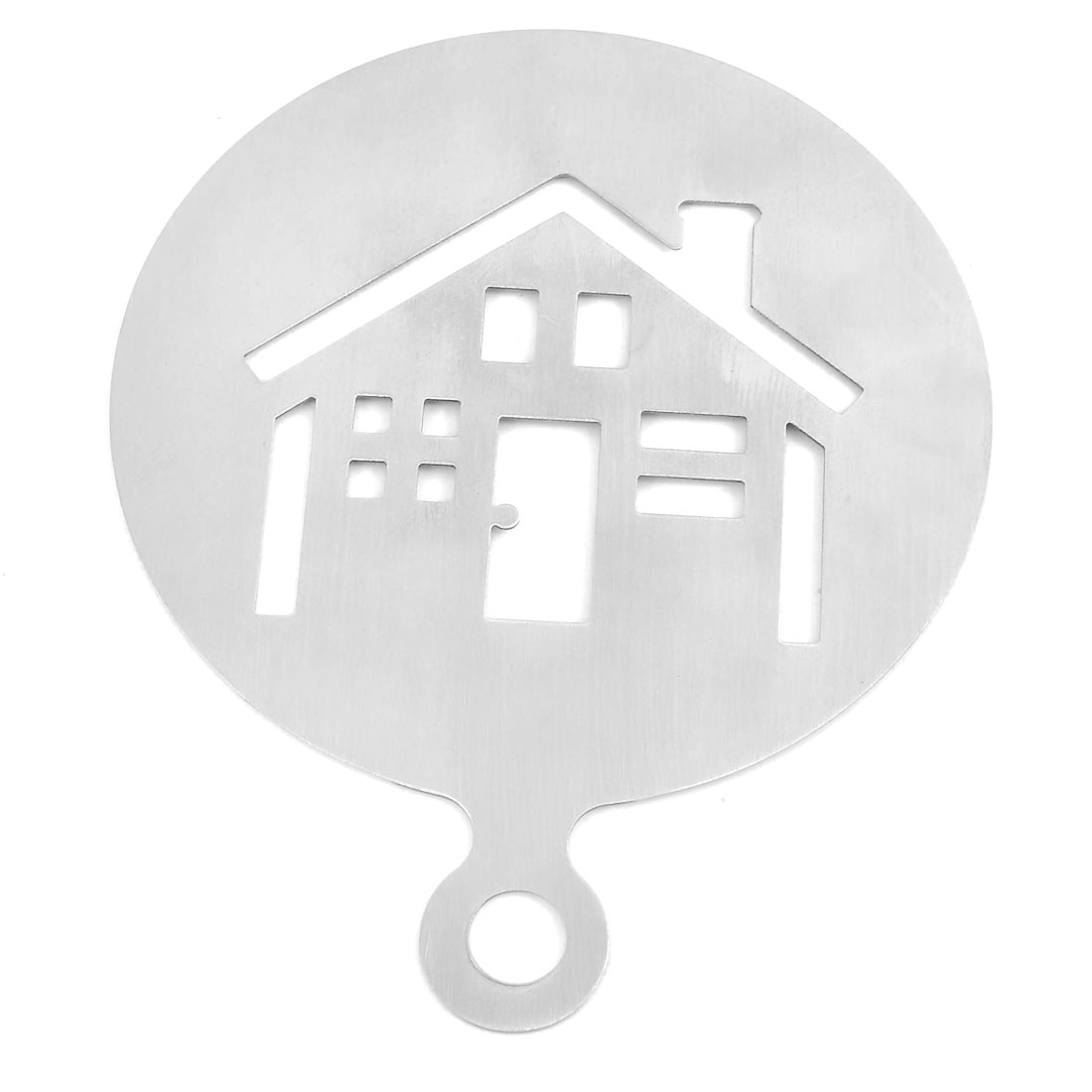 Home Kitchen Stainless Steel House Design Baking Stencil Coffee Decorating Tool Mold
