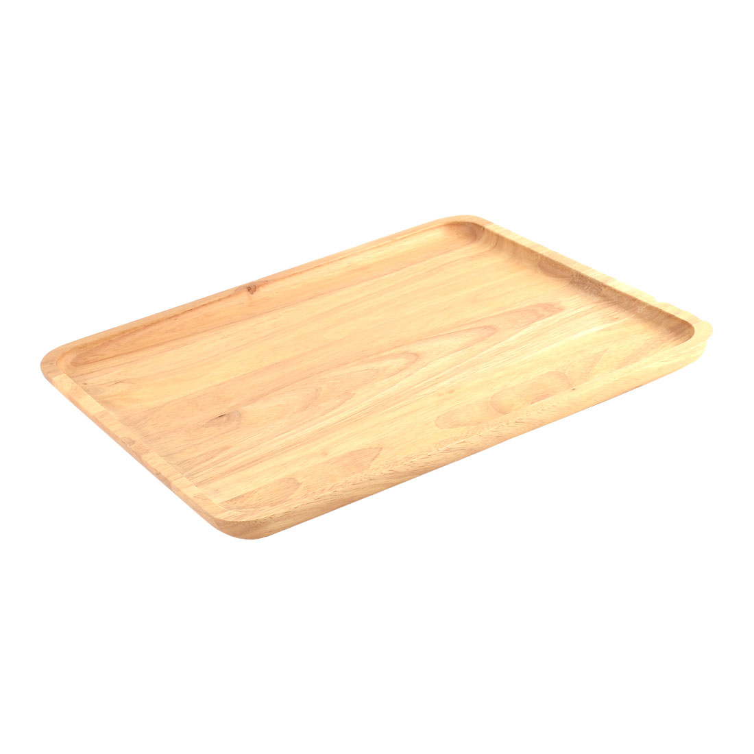 Restaurant Wood Grain Pattern Rectangle Shape Food Drinks Serving Tray