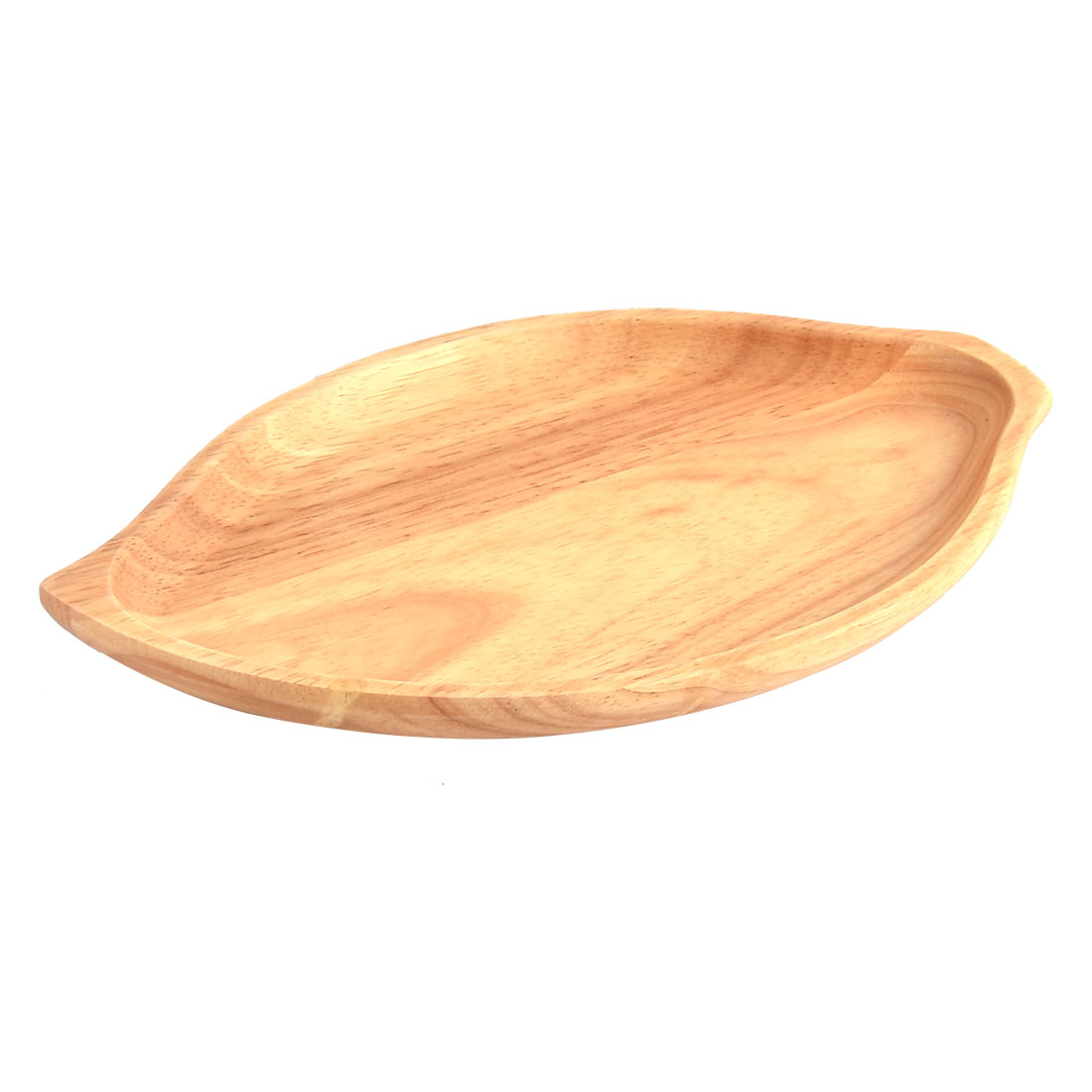 Household Wood Grain Pattern Leaf Shape Pastry Cake Serving Tray Container