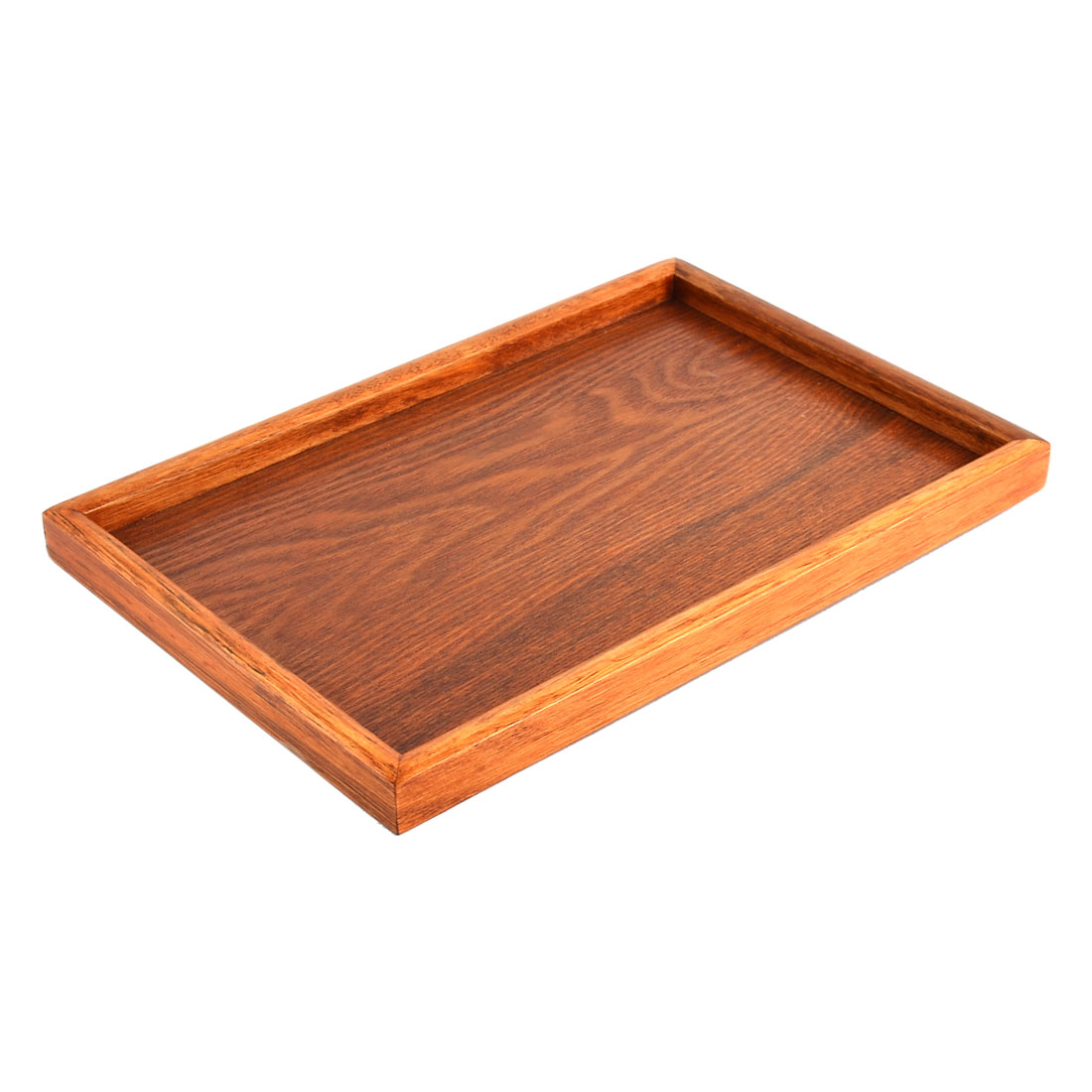 Restaurant Wood Grain Pattern Rectangle Shape Coffee Tea Serving Tray Container