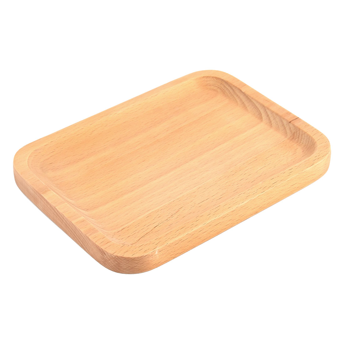 Restaurant Wood Grain Pattern Rectangle Shape Coffee Tea Tray Container