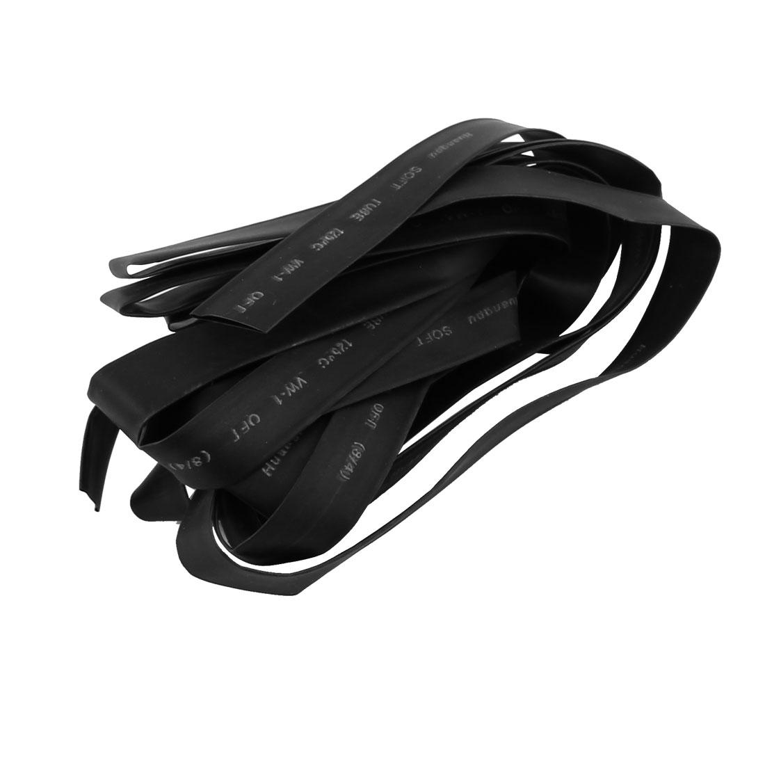 4M Length 8mm Dia Polyolefin Heat Shrinkable Tube Sleeving Black