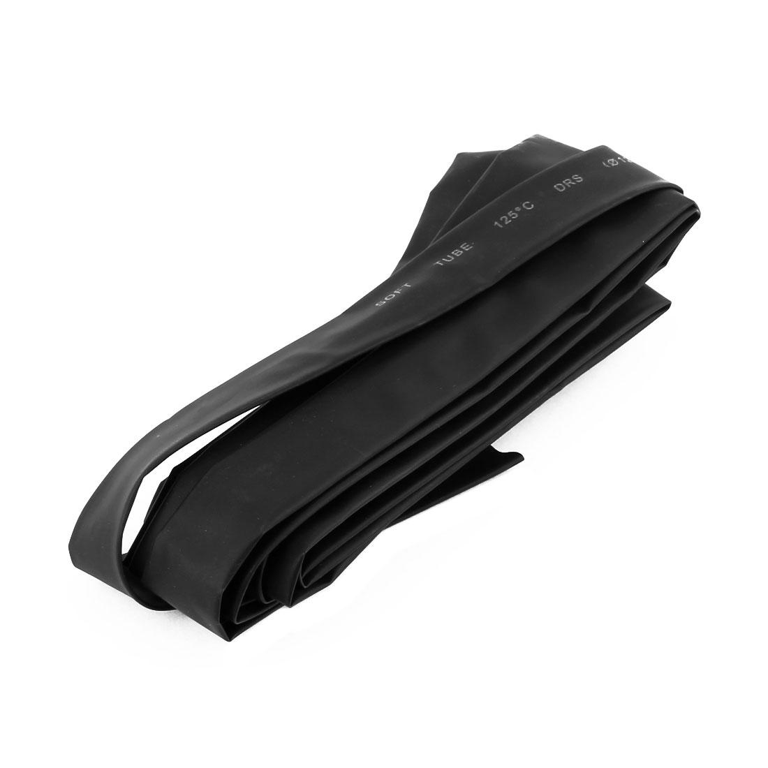 3 Meter Length 12mm Dia Polyolefin Heat Shrinkable Tube Sleeving Black
