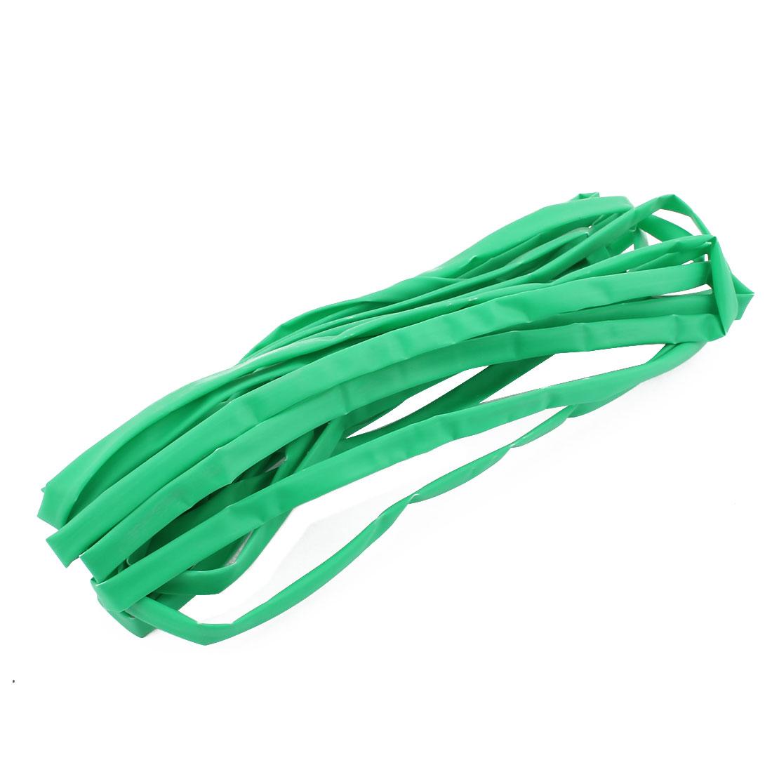 6M Length 6mm Dia Polyolefin Heat Shrinkable Tube Sleeving Green