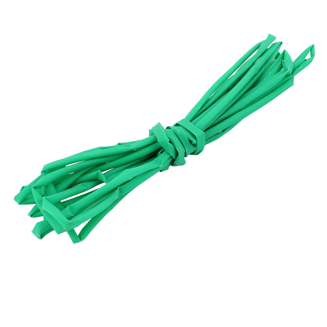 4M Length 4.5mm Dia Polyolefin Heat Shrinkable Tube Sleeving Green