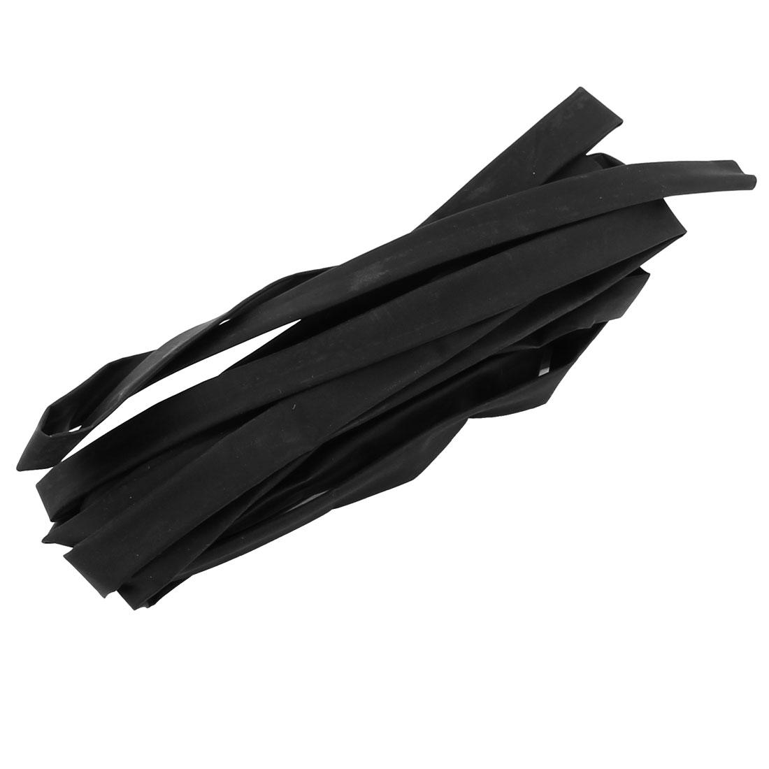 2.5M Length 6mm Dia Polyolefin Heat Shrinkable Tube Sleeving Black