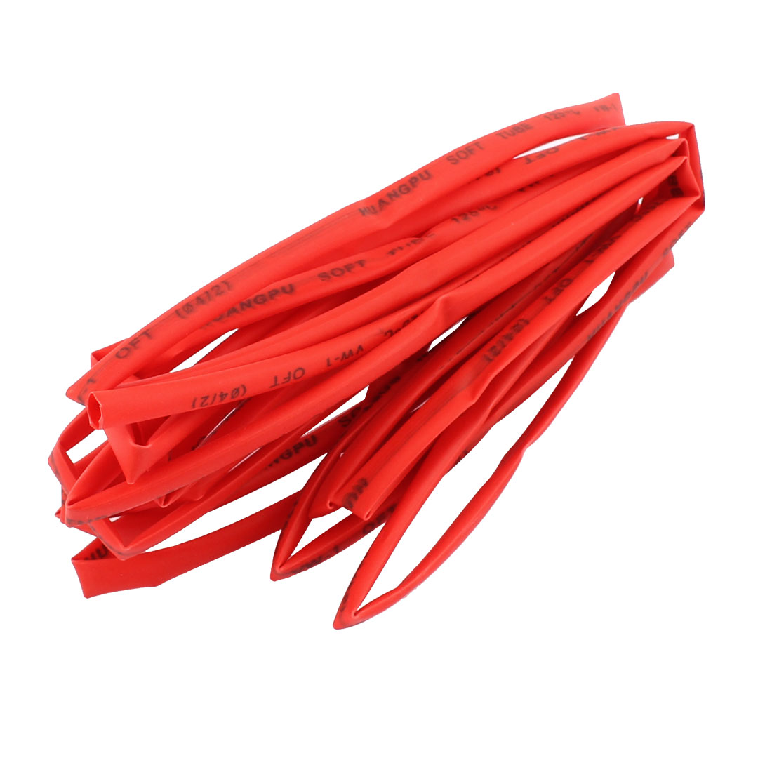 4M Length 4mm Dia Polyolefin Heat Shrinkable Tube Sleeving Red