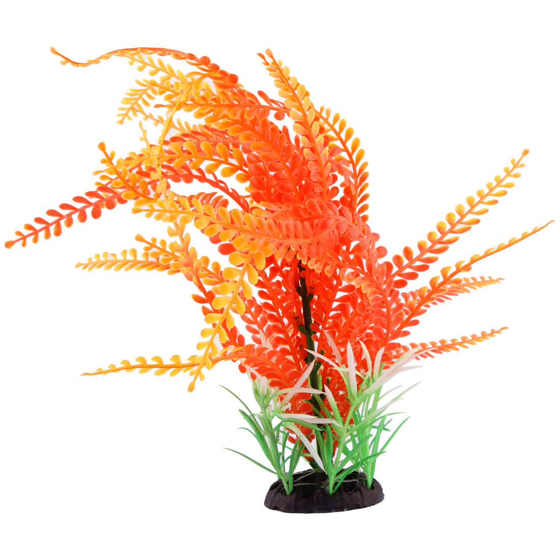 Fish Tank Fishbowl Decoration Ceramic Base Artificial Aquarium Plant Grass