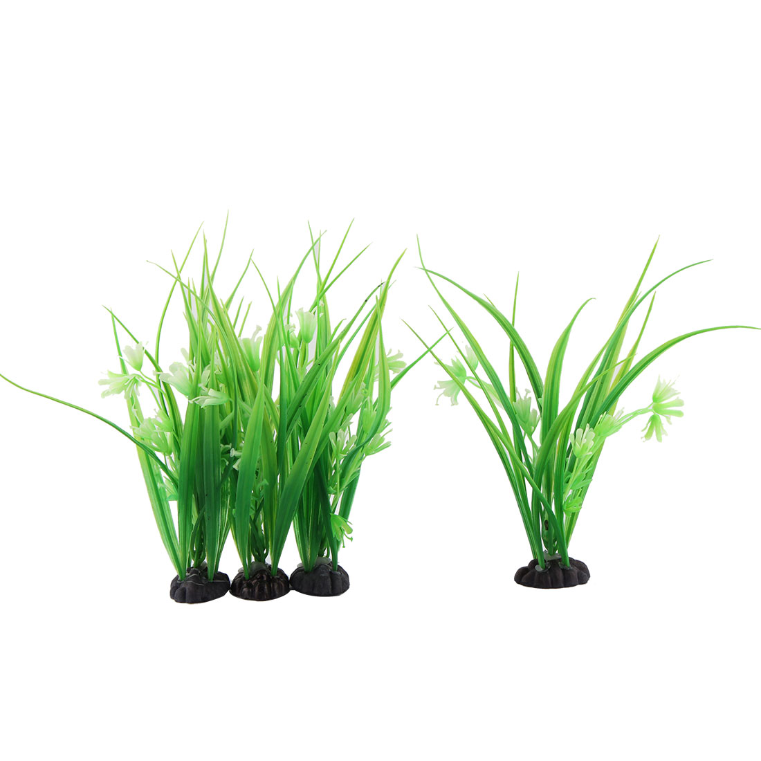 Artificial Underwater Grass Plant Aquarium Fish Tank Decoration Green White 4pcs