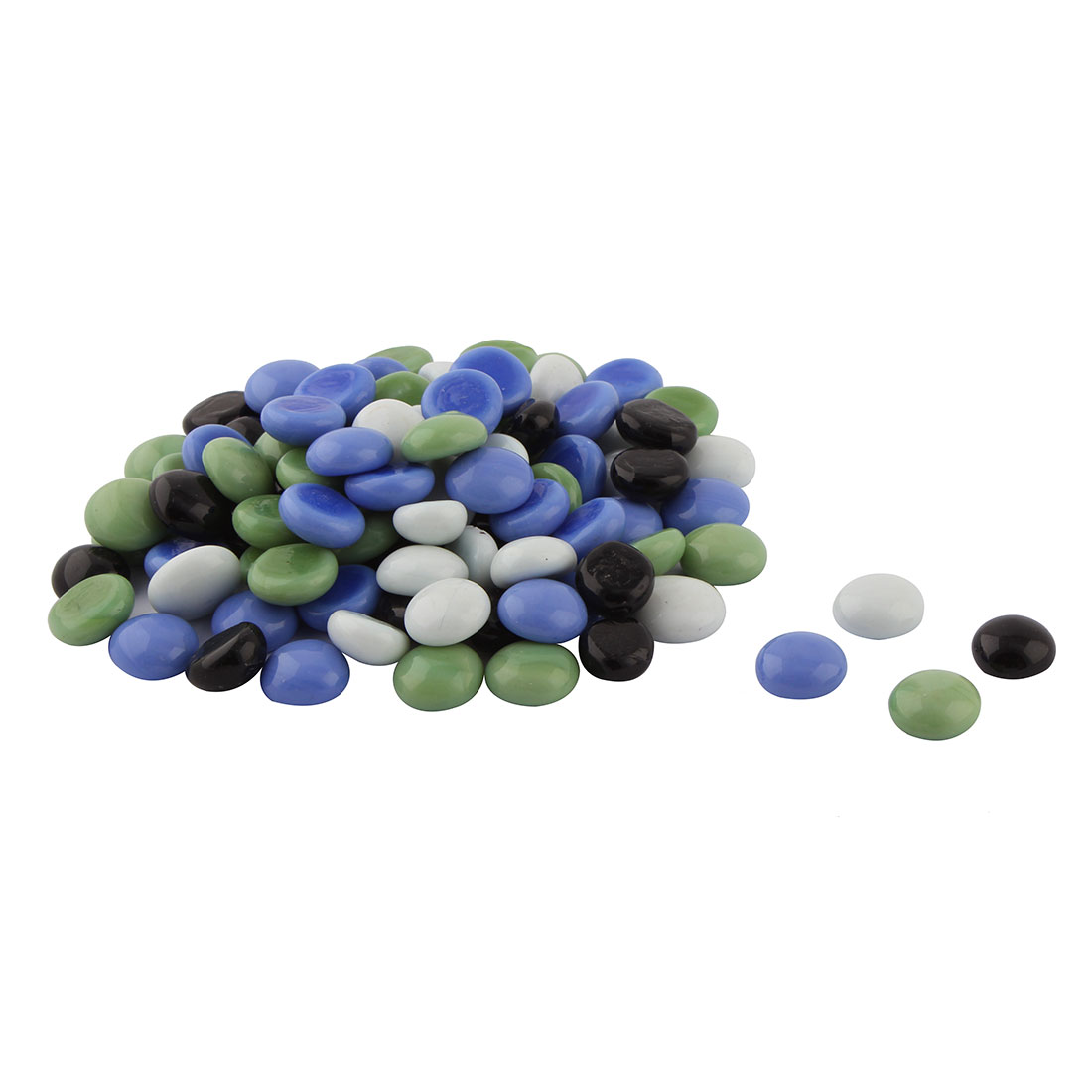 Fish Tank Aquarium Plant Pot Glass Round Shaped Decorative Stone Ornament 100pcs