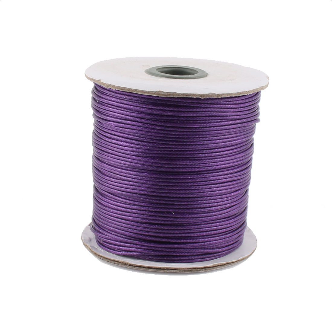 DIY Bracelet Necklace Cotton Waxed Making String Beading Thread Cord Roll Purple 190 Yard