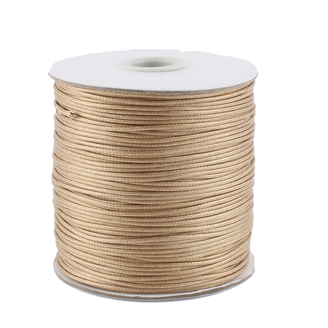 DIY Bracelet Necklace Cotton Waxed Making String Beading Thread Cord Roll Khaki 190 Yard
